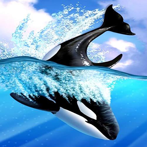 UHvEZ Whale The Wooden Puzzle 1000 Piezas ersionjigsaw Puzzle Juguetes educativos para niños Adultos_Rompecabezas Educativo de Regalo para niños_50X75CM