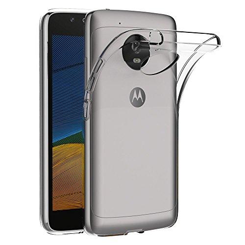 REY Funda Carcasa Gel Transparente para Motorola Moto G5, Ultra Fina 0,33mm, Silicona TPU de Alta Resistencia y Flexibilidad
