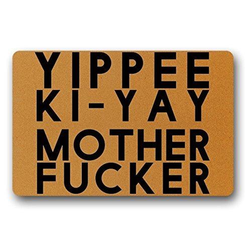 PeteGray Yippee Ki-Yay moeder neuken grappige deur matten binnen antislip voordeur matten ingang mat deurmatten bad matten badkamer tapijten vloer tapijt voor huis 40x60 cm