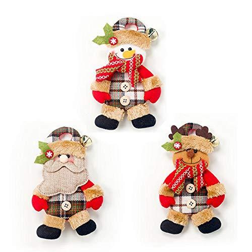 4Pcs Weihnachtsdeko Weihnachtsmann Schneemann Baum Spielzeug Puppe hängen Dekorationen Frohe Weihnachten dekorative Weihnachtsdekor Ornamente Party Dekor Geschenke