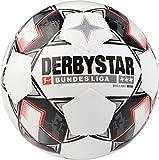 Derbystar 4300 Ballon de Football Mixte Adulte, Blanc/Noir/Rouge, Taille 4