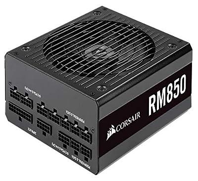 Corsair RM850, RM Series, 80 Plus Gold Certified, 850 W Fully Modular ATX Power Supply - Black