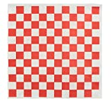 Dry Waxed Deli Paper Sheets - Paper Liners for Plasic Food Basket - 100 Sheets 12x12' Red and White...