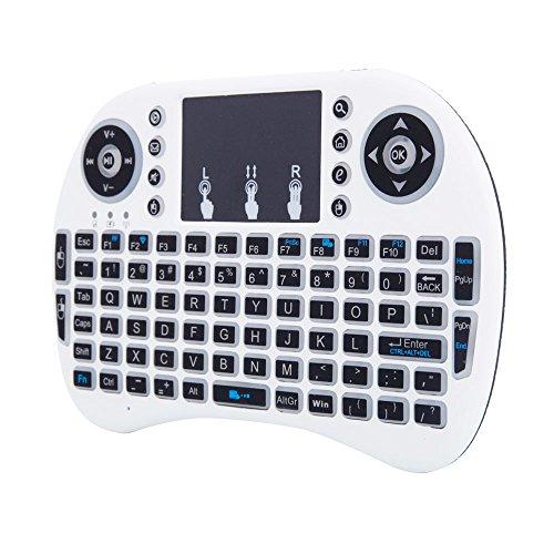 HYLY Mini I8 2.4ghz 3-Teclado Inalámbrico De Luz De Fondo De Color con Touchpad-Un 5.71 x 3.94 x 0.59 en