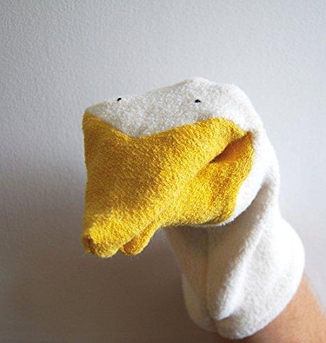Organic Duck Goose Bird Hand Puppet Natural Kids Toy