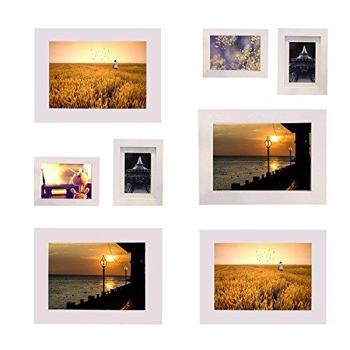 LIANSAN - Cornice portafoto in Legno con Finitura Avorio, 13 x 15,6 cm, per Foto da 9 x 11,6 cm, 1 Pezzo