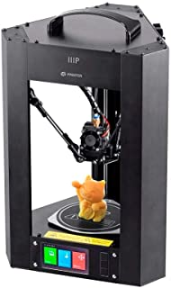 Monoprice Mini Delta 3D Printer With Heated (110 x 110 x 120 mm) Build Plate, Auto Calibration, Fully Assembled for ABS & PLA + Free MicroSD Card Preloaded With Printable 3D Models