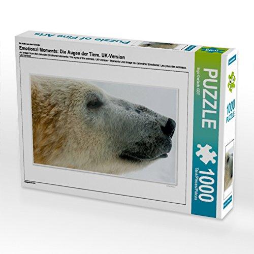 Un diseño del calendario emocionante: los ojos de los animales. Puzzle de 1000 piezas (forma horizontal), diseño de animales