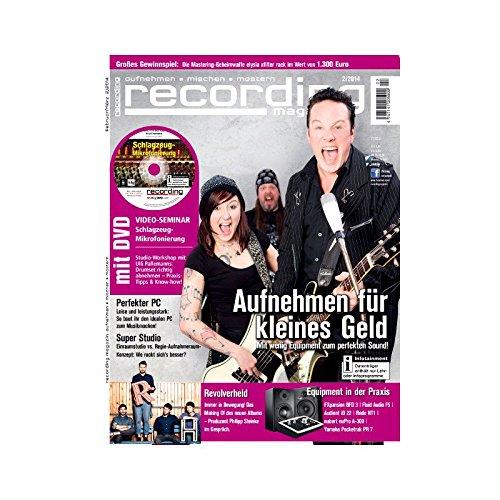 Recording Magazin 2 2014 mit DVD - Aufnehmen für kleines Geld - Schlagzeug Mikrofonierung Videoseminar - aufnehmen - mischen - mastern