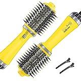 Chimpuk Cepillo de aire caliente de un paso, secador de pelo profesional de 70 dB y voluminizador y...