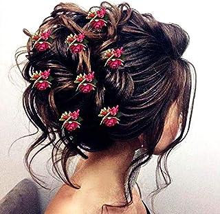 Hair Flare 2148 Women's Girls Ladies Hair Pins Clips Hair Buns HairStyles Artificial Flowers Accessories For Weddings Brid...