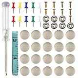 NovelBee 60 Set Car Repair Kits with Roof Headliner Repair Button Snap Rivets Retainer and One Screwdriver for Car Roof