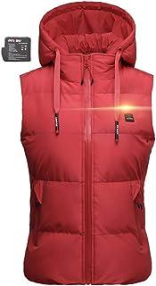 DEWBU Heated Vest for Women with 7.4V Battery Electric Vest Coat for Hiking