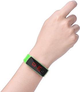 BITHEOUT Montre-Bracelet à LED, Rectangle d'économie d'énergie réglable 22,5 x 1,5 cm Montre numérique à LED pour Le Sport...