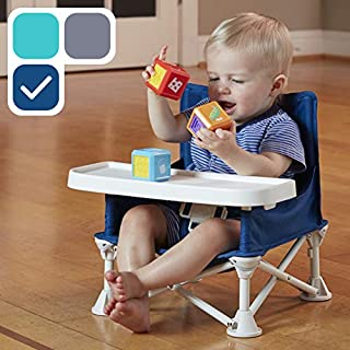 hiccapop Omniboost Travel Booster Seat with Tray for Baby | Folding Portable High Chair..