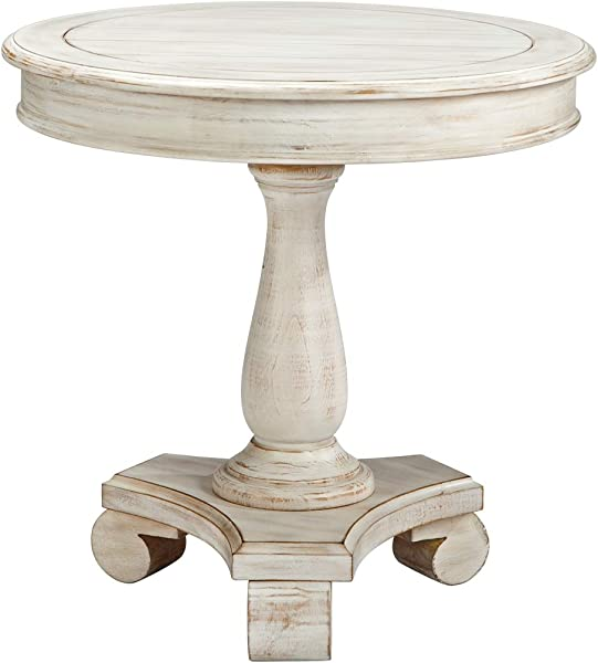 Ashley Furniture Signature Design Mirimyn End Table Cottage Style Accent Table Chipped White