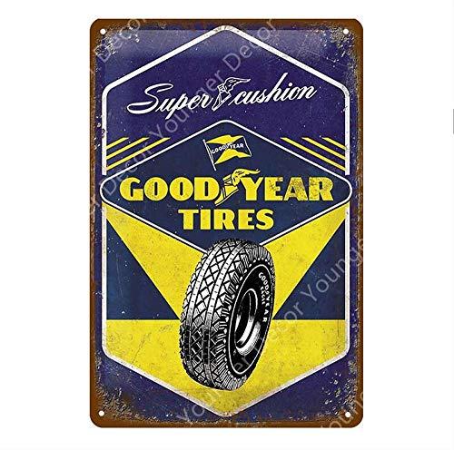 Shovv Metalen tin teken Vintage Garage Decor Motor Olie Tin teken motorfiets auto banden metaal poster benzinestation huis muur decoratie 20*30cm #001