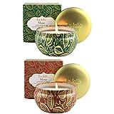 La Jolíe Muse Juegos de velas - Velas aromaticas, Abeto cedro y calabaza canela, set de regalo, vela de calabaza, vela cedro, 35-45 horas