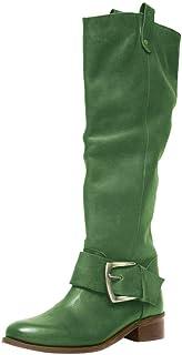 CYHOME Women's Knee High Winter Riding Boots Wide Width Knee High Riding Boots Low Heel Stretchy Elastic Band Side Zipper ...