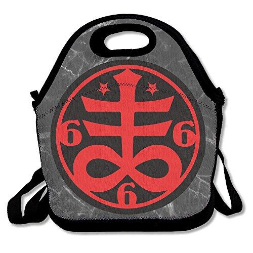 Ghf-LUNCHBAG - Bolsa de Almuerzo con Aislamiento de Símbolo de Cruz Satánica