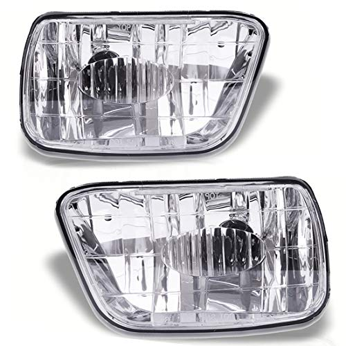 Fog Lights Compatible with Chevy Trailblazer 2002-2009 (Do NOT Fit in 2007-2009 Trailblazer SS Models) Isuzu Ascender 2003-2008 (OE Style Clear Lens w/ 880 12V 27W Bulbs)