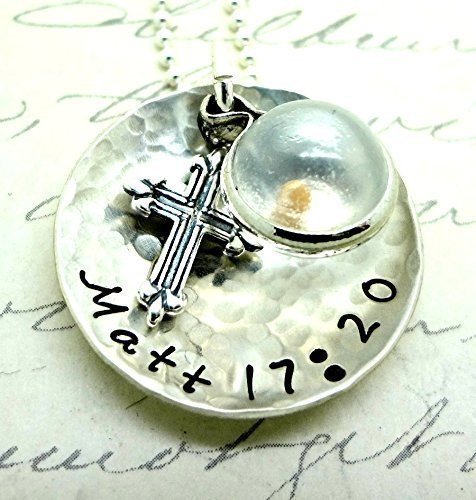 Faith Mustard Seed Necklace Sterling Silver Matthew 17:20