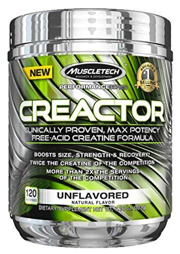 MuscleTech Creactor Kreatin Creatin HCL Muskelaufbau Und Kraft I Unterstützung Bodybuilding & Fitness 204g Lemon Lime