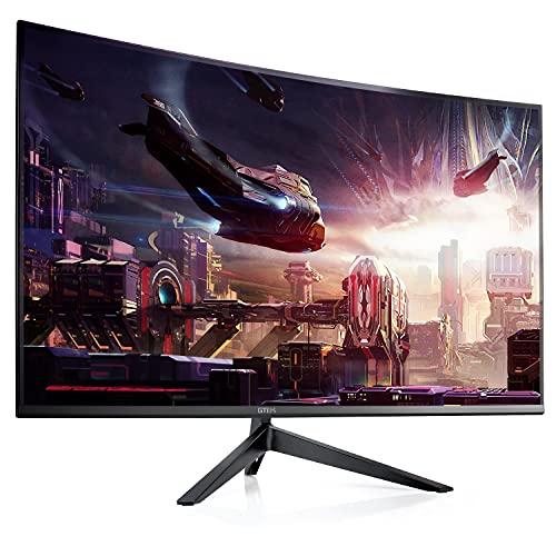 GTEK F2740C 27-Inch Curved Frameless Gaming Monitor Full HD 1920 x 1080P, 1800R, VA 1ms MPRT, 240Hz, FreeSync, Speakers, DisplayPort/HDMI/Type-C, VESA