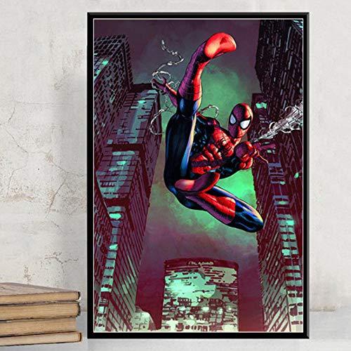 mmzki Tableros de Lona para Pintar Hombre Película Lienzo Pintura Carteles e Impresiones Cuadros Arte de la Pared Fotos Habitación de los niños Decoración del hogar No Frame