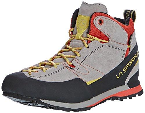 LA SPORTIVA Unisex-Erwachsene 17egr Trekking- & Wanderhalbschuhe, Mehrfarbig (Grey/Red 000), 43 EU