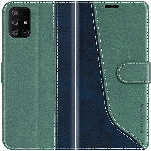 Mulbess Funda para Samsung A71, Funda con Tapa Samsung Galaxy A71 4G, Funda Samsung Galaxy A71 Libro, Funda Cartera para Samsung Galaxy A71 4G Carcasa, Verde Mint