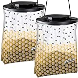 Flies Be Gone Fly Trap - Disposable Non Toxic Fly Catcher - Made in USA - Natural Bait Trap for Patios, Ranches. Easy to Use Outdoor Fly Trap, Keeps Flies from Coming Indoors (2 Pack)