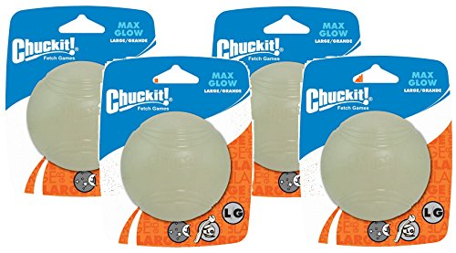 (4 Pack) CHUCK IT! Lightplay Max Glow Balls Large