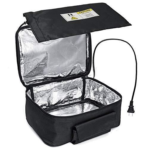 BESTNIFY Calentador de Almuerzo para automóvil y Horno portátil, Caja de Almuerzo de Calentamiento Personal para Calentar Las Comidas en el Trabajo sin microondas de Oficina 12V (Negro)