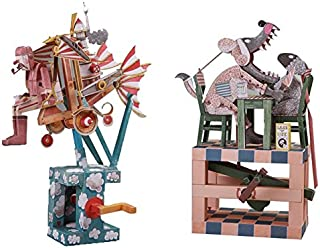 Automata Paper Machine Moving Model Combo Kit – Flying Dreamer + Having Dinner with a Wolf Designed by Keith Newstead (Fun & Educational DIY Project) (Flying Dreamer + Having Dinner with a Wolf)