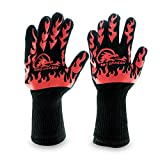 Extreme Heat Resistant Gloves - BBQ Gloves, Hot Oven Mitts, Charcoal Grill, Smoking, Barbecue Gloves for Grilling Meat Gloves, Insulated, Silicone Non-Slip Grips, U.S. Safety Tested - BBQ Dragon