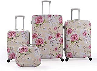 Magellan Hardside spinner luggage Set of 4 pieces with TSA Lock -Beige
