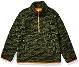 Amazon Essentials Quarter-Zip High-Pile Polar Fleece Jacket Outerwear-Jackets, Camo Print, Medium