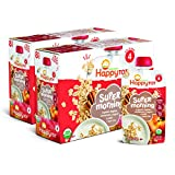 Happy Tot Organics Super Morning Stage 4, Apple Cinnamon, Yogurt, Oats + Super Chia, 4 Ounce Pouch (Pack of 8) packaging may vary