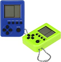 Glumes Portable Handheld Game key chain Console Built in 26 Classics Games Great for Travel Holiday Gaming Entertainment Birthday Xmas Present to Adults and Kids 2Pcs