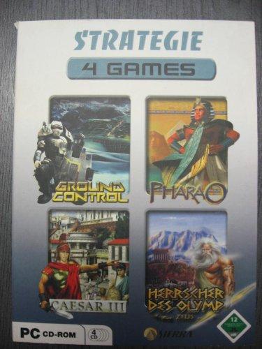 4 PC Games STRATEGIE : Ground Control / Pharao / Caesar III / Herrscher des Olymp ZEUS