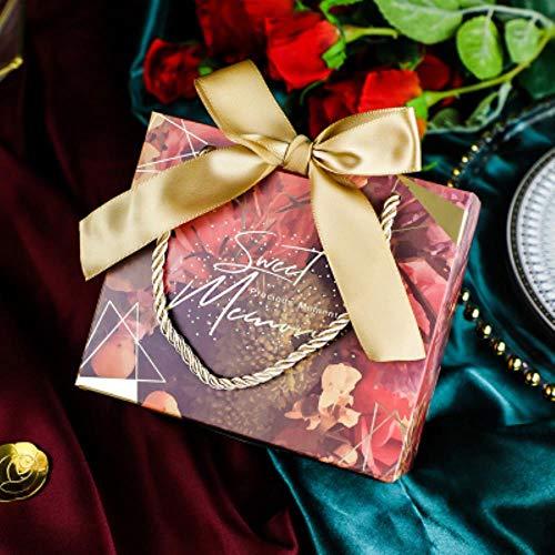 ERFHJ 20 stks/partij rood groen grijs marmer patroon snoepzakje doos voor gift decoratie/event party benodigdheden/bruiloft gift box