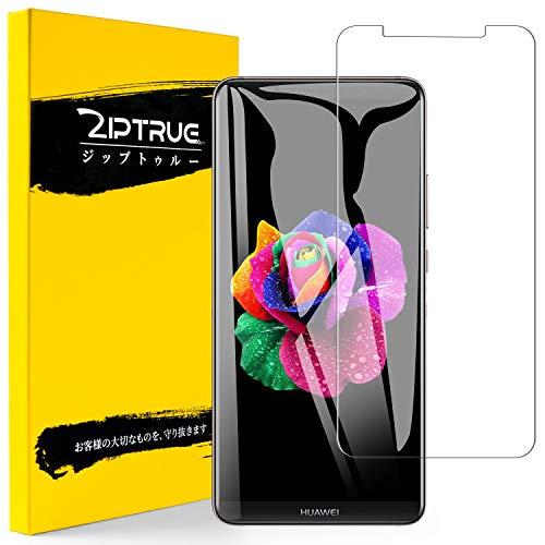 Huawei Mate 10 Pro フィルム Ziptrue 旭硝子 強化ガラス 液晶保護フィルム 9H 高鮮明 2.5D 自動吸着 気泡レス (HUAWEI Mate 10 Pro)