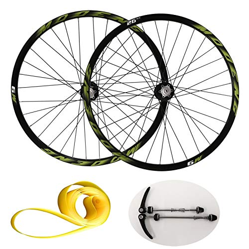 LvTu MTB Freno de Disco Juego de Ruedas de Bicicleta 26 27.5 29 Pulgadas, Aleación de Aluminio Bicicleta de Montaña Juego de Ruedas Compatible 9/8/10/11 Velocidad Casete para Neumáticos de 1.25~2.25
