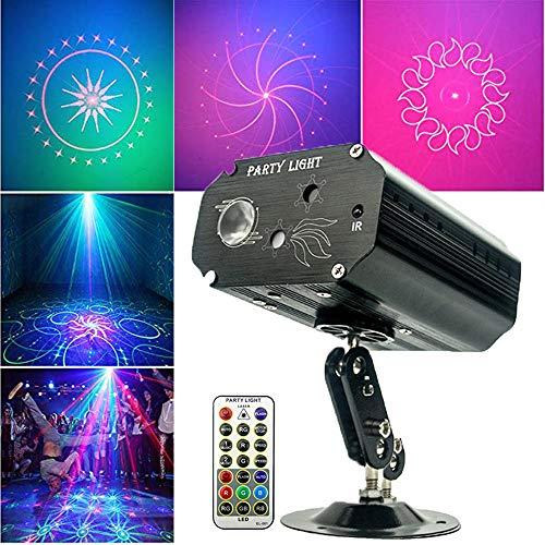 Party Lichter DJ Disco Lichter Sound aktiviert Bühneneffekt Projektor Stroboskop Lichter mit Fernbedienung für Geburtstagsfeiern Hochzeit Karaoke KTV Bar Tanzen Weihnachten Halloween Dekorationen