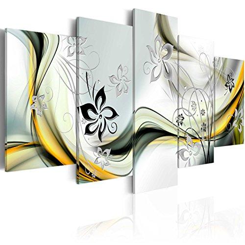 murando Cuadro en Lienzo 200x100 cm Abstracto Impresión de 5 Piezas Material Tejido no Tejido Impresión Artística Imagen Gráfica Decoracion de Pared Arte Flores a-A-0013-b-p