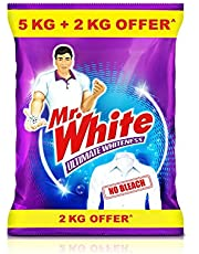 Mr. White Detergent Powder - 5 Kg with Free 2Kg