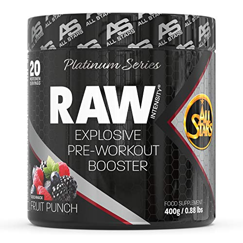 All Stars Raw Intensity Expiosive Pre-Workout Booster, Fruit Punch, 400 g