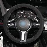 E83 2005-2010 M Sport KAIQMLYA Cubierta del Volante del Coche de Cuero Artificial Negro Cosido a Mano para BMW X3