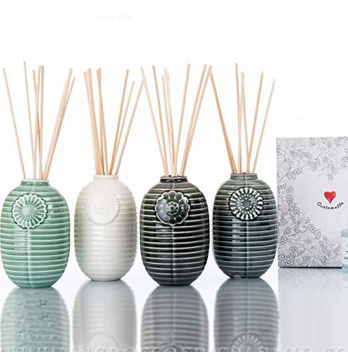 Ingrosso e Risparmio Cuorematto – Difusor de esencias en tarro de cerámica multicolor, surtido en 4 colores, para recuerdo solidario de boda, con caja de regalo incluida (sin embalaje)